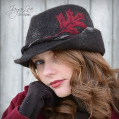 Red Oak Wet Felted Trilby Fedora Hat