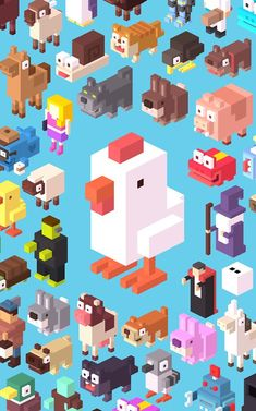 KAGADATO selection. The best in the world. Game design. **************************************Crossy Road #voxel #game #design #art