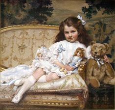 """George Hall Neale """"Portrait of Marjorie Cohen, aged 5 """""""