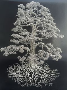 Artist Makes Intricate Tree Sculptures By Twisting Single Strands Of Wire by Low Lai Chow