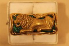 Italian 18kt Gold Malachite Ring