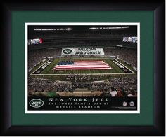 Your Name on a sign in The Meadowlands, Your Day at the Stadium.  Great gift for Jets Fans. Customize with your name on cards held by the fans and make it Your Day at the stadium.