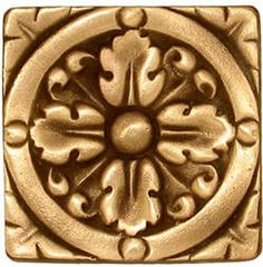 Our classic Acanthus Medium bronze tile (Comes in small and large, too!).