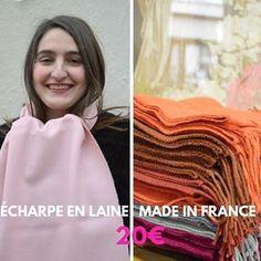 """28de24ff09d8 La Maison des Canuts on Instagram  """"❄ Écharpes en laine 100% made in France  ! 🇫🇷 A retrouver en boutique au 10 rue d Ivry 69004 Lyon Croix-Rousse ou  ..."""
