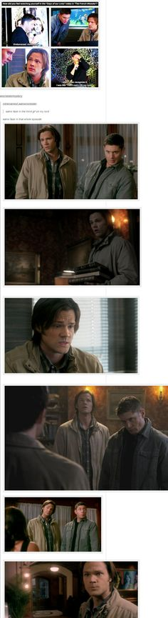 "(gif set) Jensen Ackles about Days of Our Lives, and Sam's Face ||| Supernatural 6x15 ""The French Mistake"""