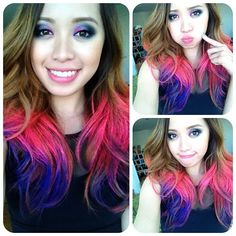 Love Michelle pHan hair!! awesome colorful ombre