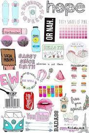 Resultado de imagem para drawing collage tumblr
