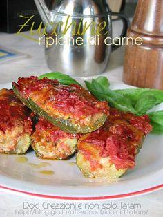 Zucchine ripiene di carne al pomodoro | ricetta facile