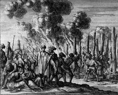Cathars and Waldensian heretics captured and burned at the stake.
