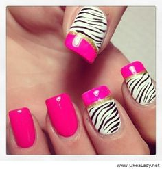zebra fingernails | Tag Archives: nice zebra nails