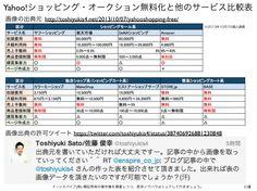 Yahoo!ショッピング・オークションの無料化が与える影響 yokotashurin.com/...
