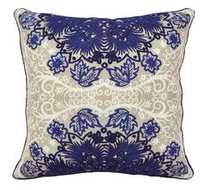 Cearra Blue 18x18 Pillow design by Villa Home