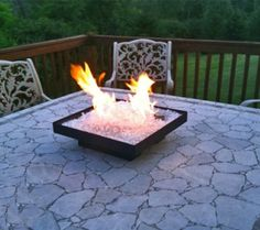 portable glass rv firepits!!! tooo cool!
