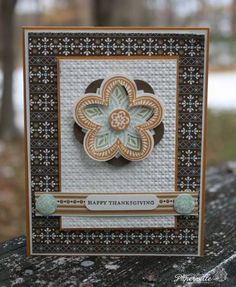Stampin Up: Triple Treat Flower. I like how  they have 3D'd the flower.