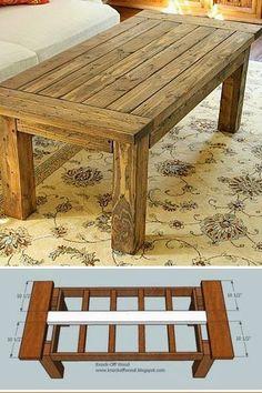 Pallet Coffee Table.  #pallets  #table  #livingroom