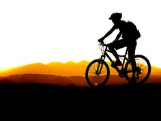 Mountain Biking Silhouette Art Print by Lane Erickson. All prints are professionally printed, packaged, and shipped within 3 - 4 business days. Choose from multiple sizes and hundreds of frame and mat options. Mountain Biking Quotes, Mountain Biking Women, Mountain Bike Trails, Bicycle Painting, Bicycle Art, Bike Silhouette, Montain Bike, Bike Tattoos, Mountain Bike Helmets