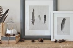DIY Feather Art -Easy Fall Project
