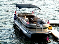 Pontoon boat - I can see myself enjoying a day on the lake, or just reading a book.
