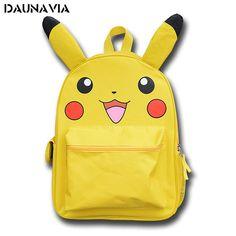 Pikachu Pokemon School Anime Backpack Mochila Escolar 3D Bag Backpacks Mochilas Escolares Adolescentes Femininas Gifts For Kids