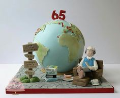 Globe birthday cake by The Little Kendal Cakery.