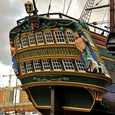 a 400 years old merchant ship in Amsterdam.