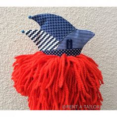 Mini Narrenkappe – Karnevalskappe blau-weiss | RENT A TAILOR