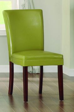 Belvedere II Collection Side Chair Chartreuse-Yellow Bi-Cast Vinyl 3276YS The faux marble top of the Belvedere II Collection will add casual warmth to your transitional dining space. Supported by wood