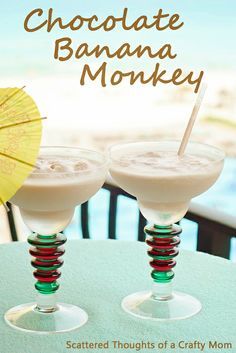 How to make a Chocolate Banana Monkey. [ Borsarifoods.com ] #drinks #recipes #food