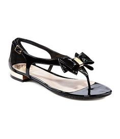 Vince Camuto black patent bow sandals...loved them and bought them:)
