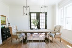 The Modern Farmhouse Project Entryway & Dining Room - House of Jade Interiors Blog