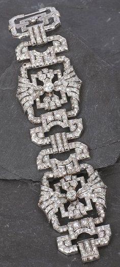 Art Deco Diamond/Platinum Bracelet #diamondpendantnecklace