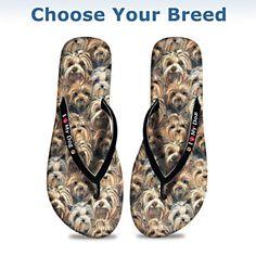 I Love My Dog Women's Flip Flops