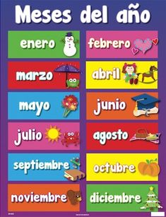 Months of the year in Spanish and English. Tinycards by Duolingo is a fun flashcard app that helps you memorize anything for free, forever. Spanish Lessons For Kids, Learning Spanish, Flashcard App, Classroom Jobs, Spanish Vocabulary, Preschool Learning Activities, Brain Breaks, Months In A Year, Early Childhood