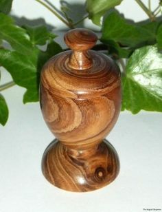 Wood Turned Hand Crafted Laburnum Altar Chalice Trinket Holder Wooden Gifts