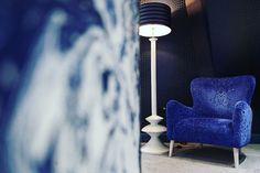 Blue Monday #homeexposure #blue #monday #mandeville #hotel #london #interiordesign #christianlacroix #wallpaper #travel #hiphotels #style #london #chair #fabric #pattern