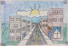 Art with Ms. Gram: One-Point Perspective City Streets (5th) - use to teach one-point perspective with Leonard Da Vinci Last Supper
