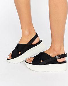 3ca41832ebb Vagabond Daria Black Flatform Sandals - Made in Sweden Black Flatform  Sandals