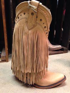 Liberty Black Vegas Hueso Claro Tan Fringe Boots
