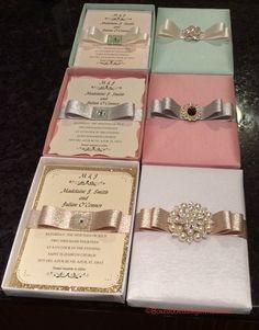 Beautiful luxury wedding invitation boxes #wedding #invitations #luxury  Order your luxury invitation boxes here: www.boxedweddinginvitations.com