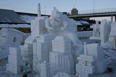 Snow Sculptures @ Fur Rondy!