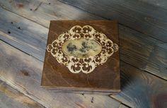 Vintage Box, Decoupage Box, Jewelry Storage Box, Renaissance Box, wooden decoupage, wooden box, home decor, portrait, art box by Malikdesign on Etsy