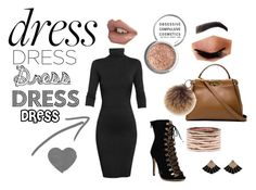 """""""Long Sleeve Dress"""" by theultimateone1 ❤ liked on Polyvore featuring Undress, Obsessive Compulsive Cosmetics, Avon, Fendi, Rebecca Minkoff, Repossi, outfit, Sexy, contestentry and winner"""