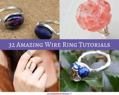 32 Amazing Wire Ring Tutorials