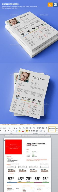 Infographic Resume/Cv Volume 7 Infographic resume, Resume cv and