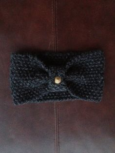 Lovely Hand-knit Charcoal Gray Ear Warmer Turban. $10.00, via Etsy.