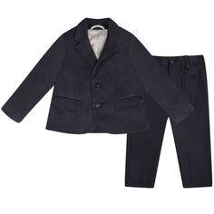 Armani Baby Boys Navy Cotton Suit