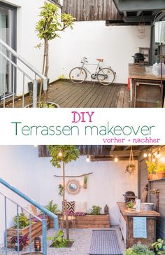 DIY Terrassen makeover – vorher/ nachher (Teil 2 DIY and decoration ideas for the garden terrace in boho lounge look with upcycling benches made of terrace wood and before / after pictures of the makeovers // leelahloves. Boho Diy, Boho Decor, Patio Bohemio, Garden Wallpaper, Boho Lounge, Diy Terrasse, Makeover Before And After, Patio Interior, Garden Deco