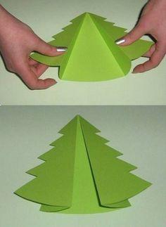 tarjetas de navidad con cartulinas Christmas Origami, Diy Christmas Cards, Christmas Art, Christmas Holidays, Christmas Decorations, Christmas Ornaments, Holiday Crafts For Kids, Christmas Activities, Xmas Crafts