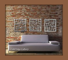 Arte de pared de metal decoración abstracto por ColdEdgeGallery