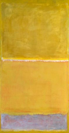 golden yellow #art by Mark Rothko - Untitled c.1950-2